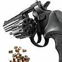 """Револьвер под патрон Флобера Stalker S (4.5"""", 4.0mm), ворон-черный, фото 2"""