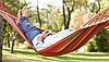 Гамак мексиканский подвесной с каркасом 200 х 120 см гамачок с поперечной планкой, Акция, фото 7