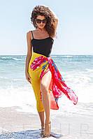 Цветочное шелковое парео Gepur Sea breeze 25061