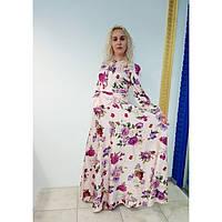 Шикарное женское длинное платье в цветочный принт