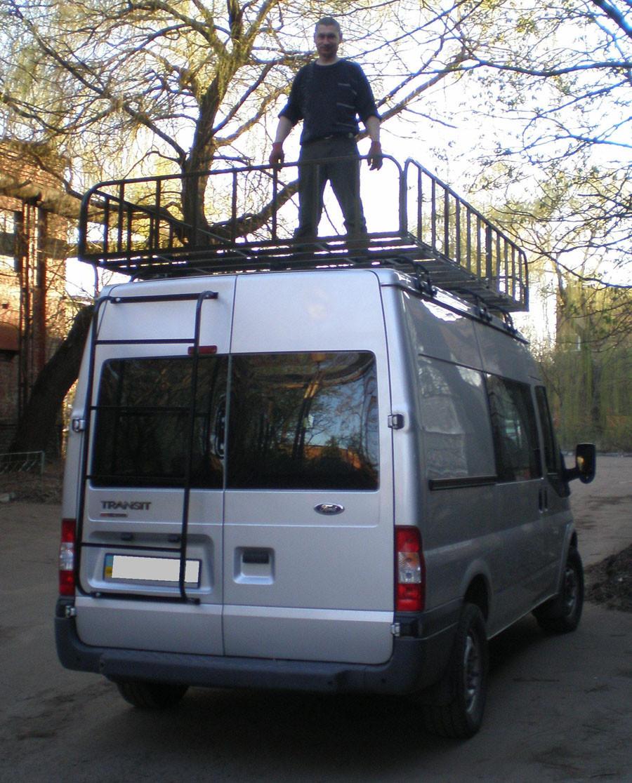 Грузовая корзина на крышу авто для микроавтобусов (бусов) Десна-Авто Big Weight Strong