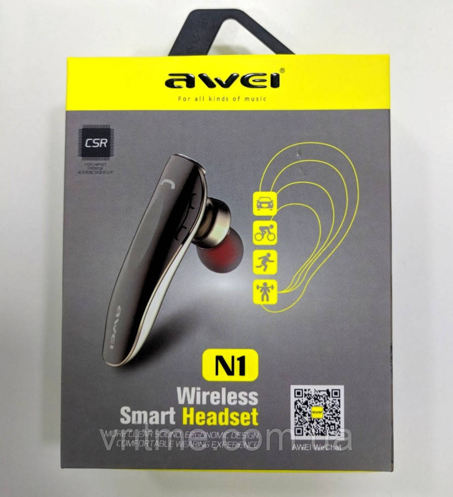Bluetooth  гарнітура Awei N1 Wireless Smart Headset