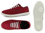 Туфли мужские текстильные вансы Кроксы ЛоПро оригинал / Crocs Men's LoPro Canvas Plim Sneaker (14616), Красные, фото 4