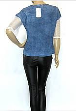 Джинсова жіноча футболка, фото 3