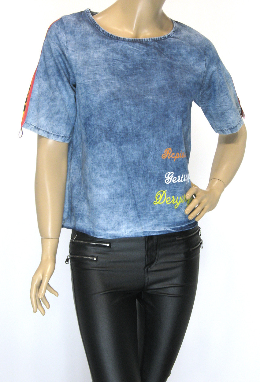 Жіноча джинсова футболка
