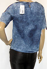 Жіноча джинсова футболка, фото 3