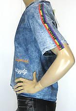 Жіноча джинсова футболка, фото 2