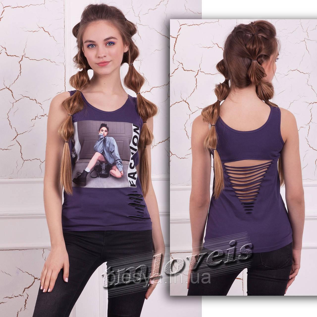Майка Fashion 2 ТМ Loveis для девочек Размеры 140- 170