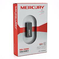 Беспроводной сетевой адаптер Wi-Fi-USB MERCURY mini MW300UM, 802.11bgn, 300MB, 2.4 GHz, WIN7 / XP / Vista / 2K / MAC / LINUX, BO