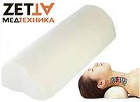 Подушка Валик полувалик ортопедическая под шею пена с памятью в Днепре Ортекс J2510