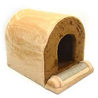 Домик когтеточка для кошек Тоннель джут