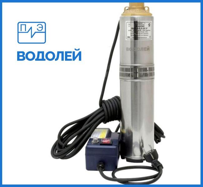 Глубинный насос ВОДОЛЕЙ БЦПЭУ 0.5-25У с внутреннем кабелем