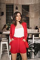 Костюм женский с завышеной талией шортами и пиджаком (К27713), фото 1