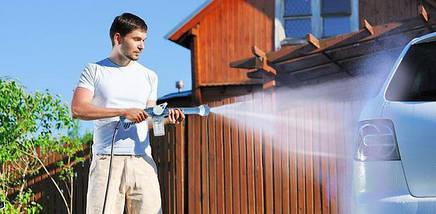 Распылитель на шланг с емкостью для шампуня Ez Jet Water Cannon, фото 2