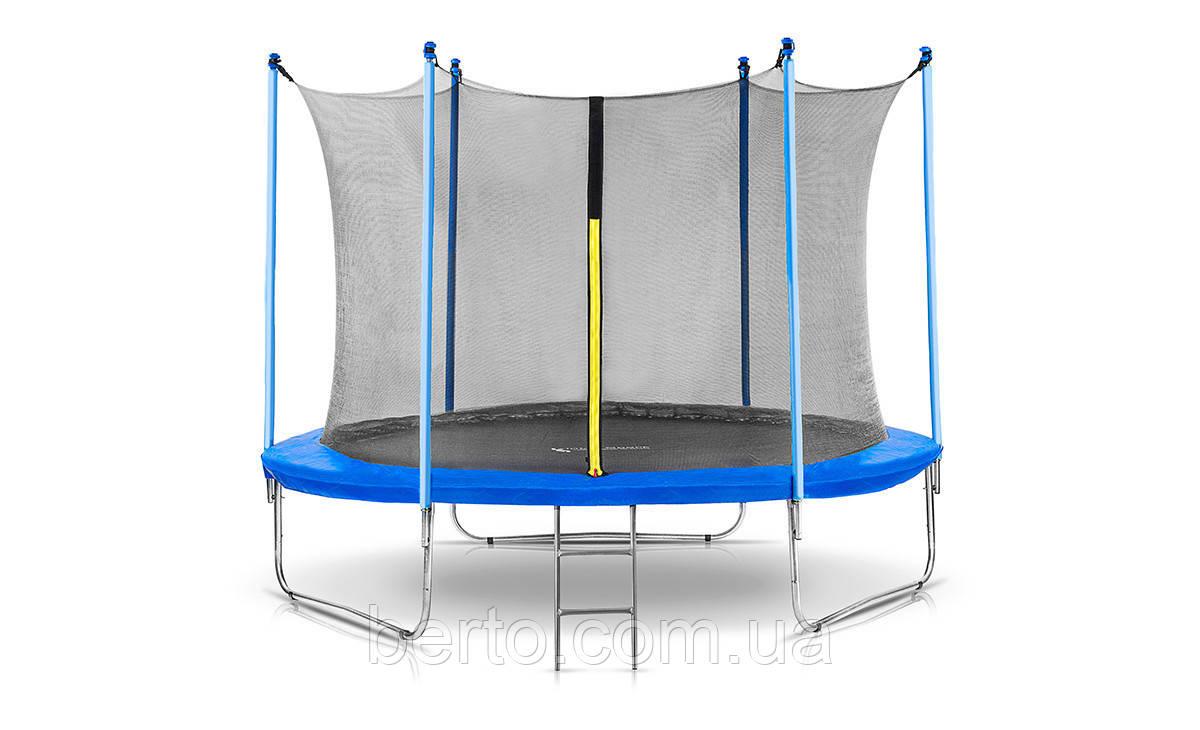 Батут Jumi диаметром 305см (10ft) спортивный для детей с внутренней сеткой и лестницей