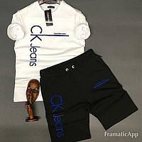 Спортивный мужской костюм CKфутболка + шорты(2 цвета)