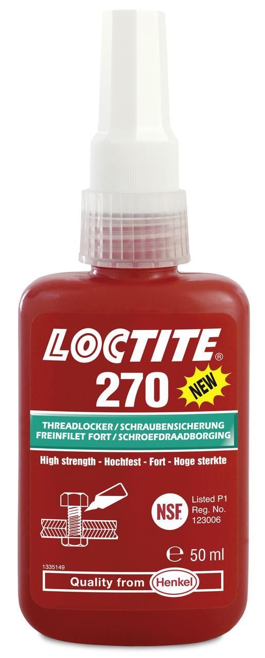 Резьбовой фиксатор высокой прочности Loctite 270, 50 мл