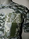Футболки форменные светлый пиксель с карманом и липучкой, 42 - 60 р, фото 2