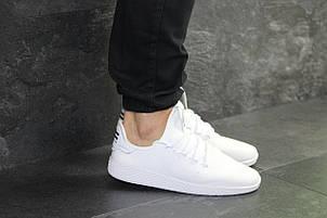 Мужские летние кроссовки Adidas Pharrell Williams,белые,сетка, фото 2