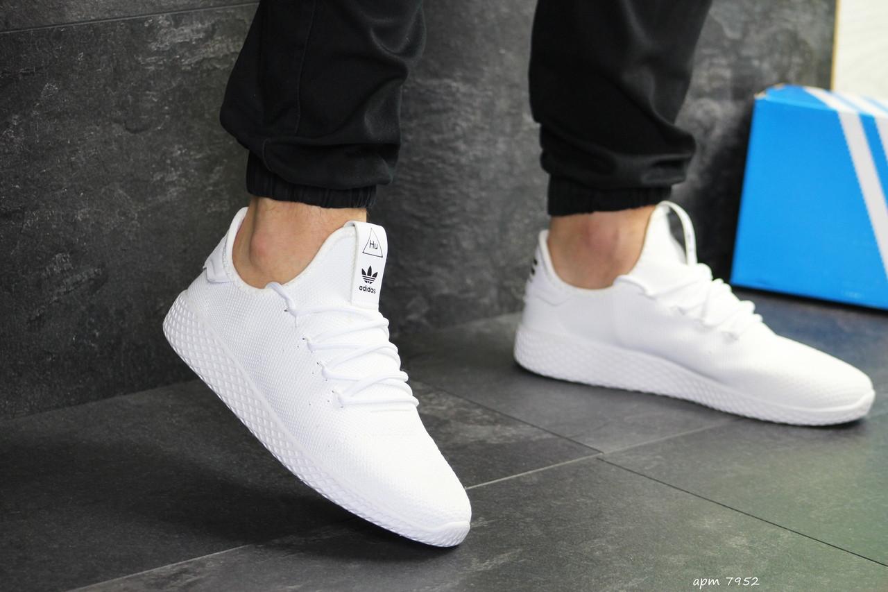 Мужские летние кроссовки Adidas Pharrell Williams,белые,сетка
