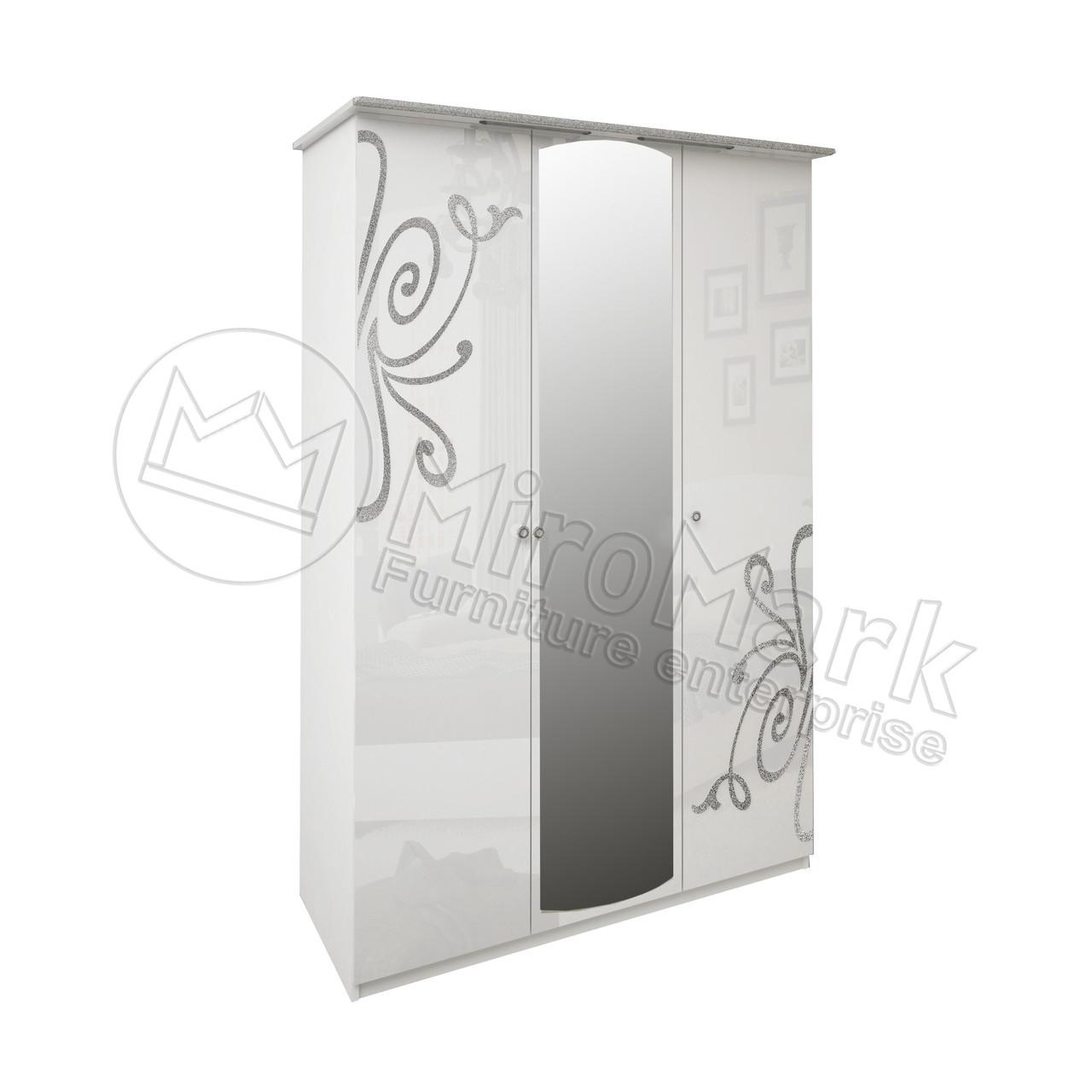 Шкаф 3Д Богема (зеркало) Миромарк