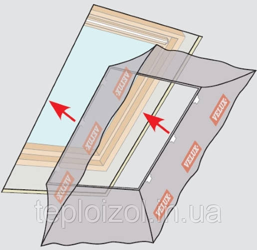 Оклад VELUX ВВХ 00000 для мансардного вікна 114х118мм