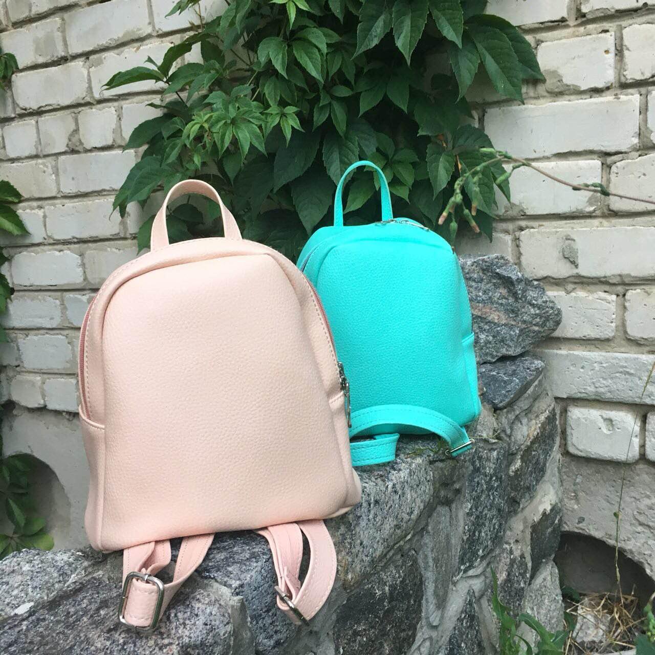 7b083816b49b Стильный женский рюкзак маленький пудра (светло-розовая) эко-кожа ЕСТЬ  РАЗНЫЕ ЦВЕТА