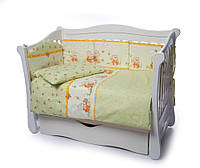 Детская постель Twins Comfort 4 элемента бампер подушки Медуны зеленый