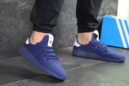 Мужские летние кроссовки Adidas Pharrell Williams,синие,сетка, фото 2
