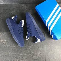 Мужские летние кроссовки Adidas Pharrell Williams,синие,сетка, фото 3