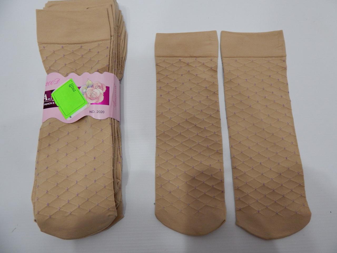 Женские носки капроновые плотные Турция socks BAMBU р. 36-40 014NG