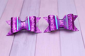 Бантики из экокожи 2 штуки Фиолетовый