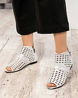 Летние ботинки с перфорациейбелые, фото 1