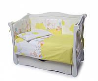 Детская постель Twins Comfort 4 элемента бампер подушки Горошки зеленый