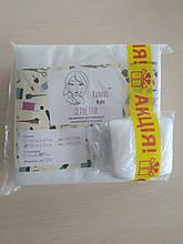 Салфетки в пачке Panni Mlada ™ 15х15 см (100 шт / пач) + салфетки безворсовые НАНО 5х5 см (50 шт / пач)