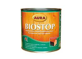 Биозащитный грунт для древесины Aura Biostop 0,9л