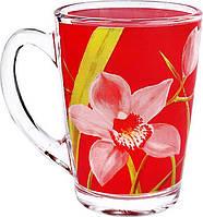 Чашка стеклянная New morning Red orhis 320 мл.