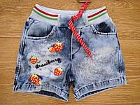 Детские джинсовые шорты для девочки 1,2,3,4 года