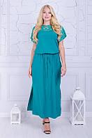 Платье в пол большого размера Версаль мята (50-64)