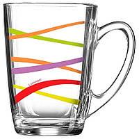 Чашка стеклянная New morning Rubans 320 мл.