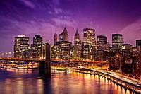 """Фотошпалери флізелінові  готові """"Вечірнє місто"""" - Манхеттен 2,75*2,35 (3 полоси)"""