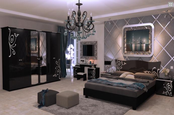Спальня Богема 3Д Черный Глянец MiroMark