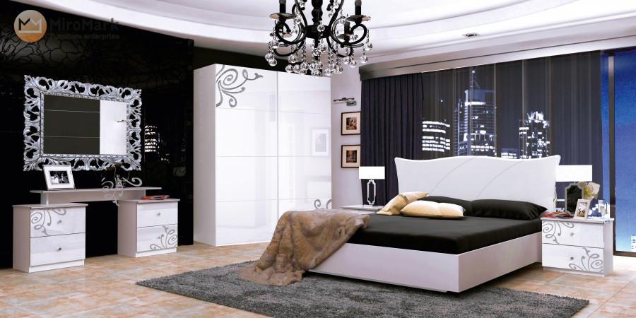 Спальня Богема 3Д  (глянец белый)  MiroMark