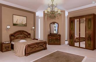 Спальня Примула 3Д (Вишня Бюзум)  Миромарк