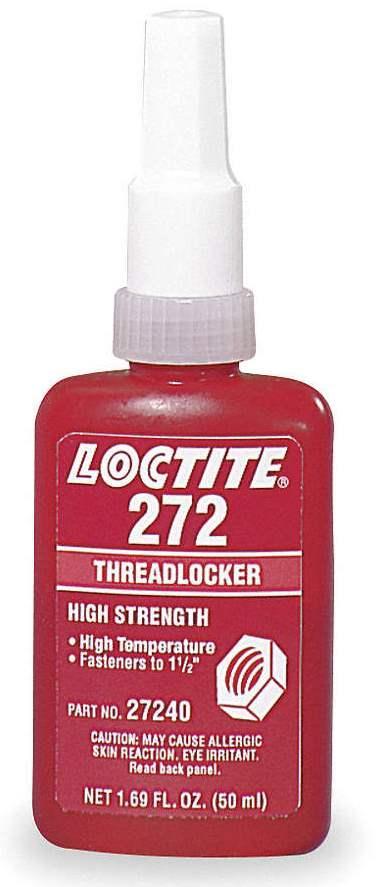 Резьбовой фиксатор высокой прочности Loctite 272, 50 мл
