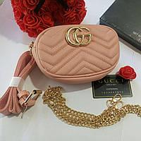 1441a1e3f285 Женская поясная сумка на пояс в стиле Gucci (Гуччи) + ремешок на плечо (