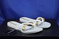 Ipanema Бразилия женские вьетнамки белые с золотом 40 размер