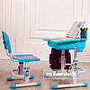 Детская парта со стульчиком FunDesk Capri Blue - ОПТОМ ДЛЯ ШКОЛ, фото 2
