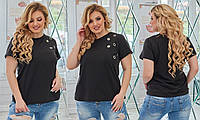Женская футболка из двунити 48-52