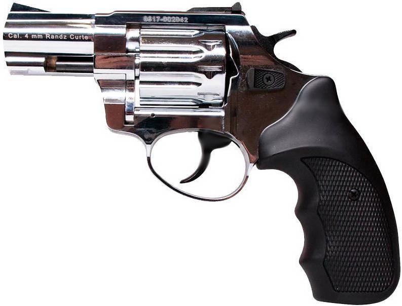 """Револьвер под патрон Флобера Stalker (2.5"""", 4.0mm), никель-черный"""